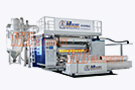 1800-2100mm PVC Cling Film Extrusion Line with Three Shaft Winder
